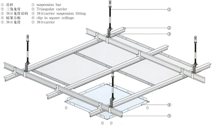 工程铝天花吊顶板